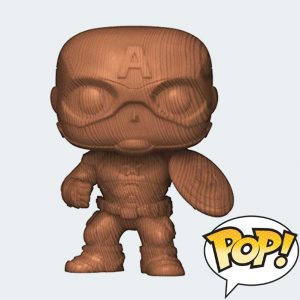 FUNKO POP Capitán América Wood Deco